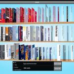 Blended Shelf showing a color sorted shelf.