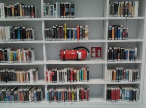 Fire extinguisher public library Stuttgart